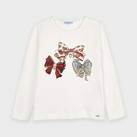 LS Graphic Tee - Red Bows
