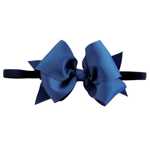 Light Navy Bow Soft Headband