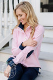 Women's Pendleton Popped Collar - Hot Pink with Navy