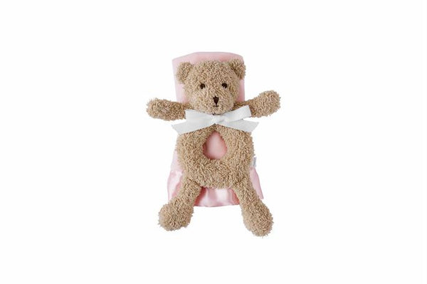 Bear Rattle & Pink Lovey Set
