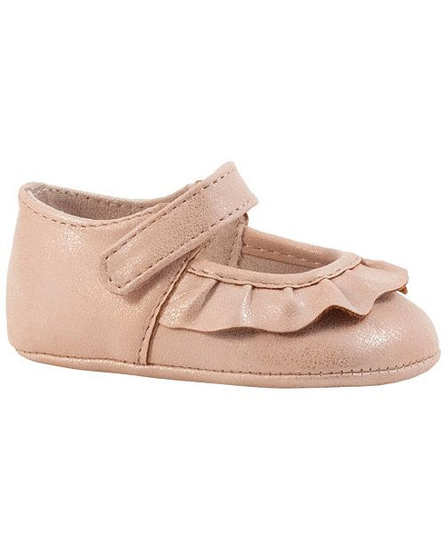 Shimmer Scalloped Mary Jane - Blush