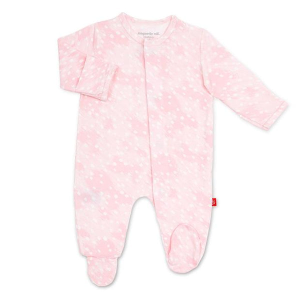 Pink Doeskin Modal Footie