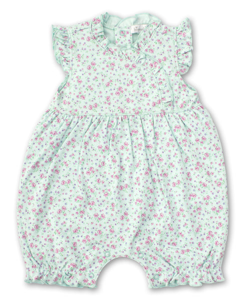 Dusty Rose Short Playsuit - Mint
