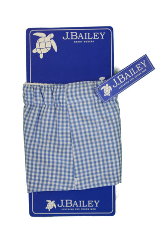 Boxers - Cadet Blue Check