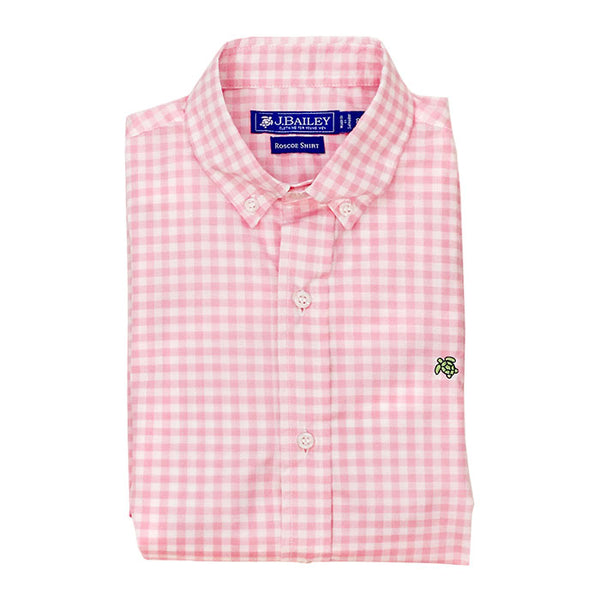 Button Down Shirt - Pink Check
