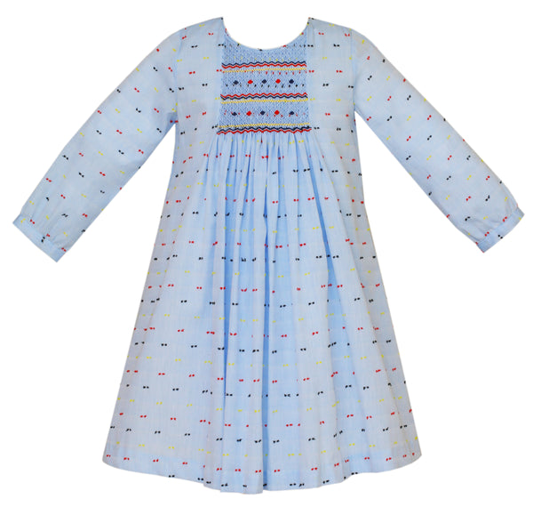 Multicolor Swiss Dot Tunic Dress