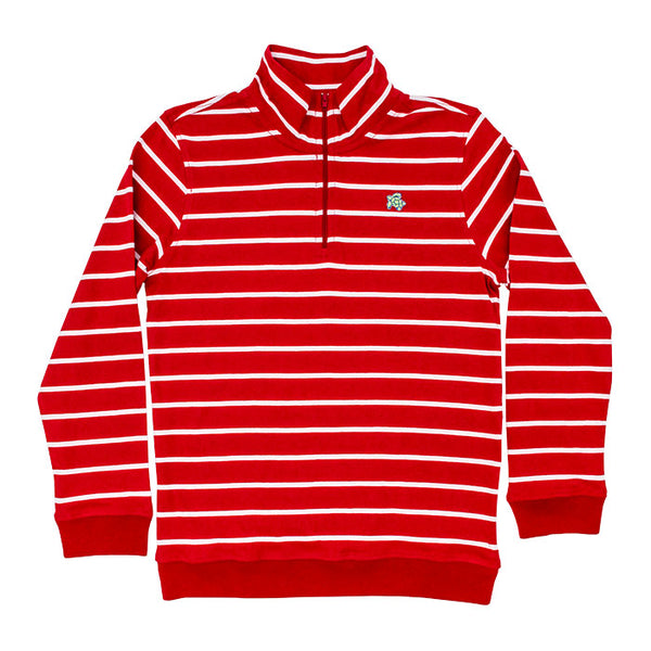 Half Zip - Red/White Stripe