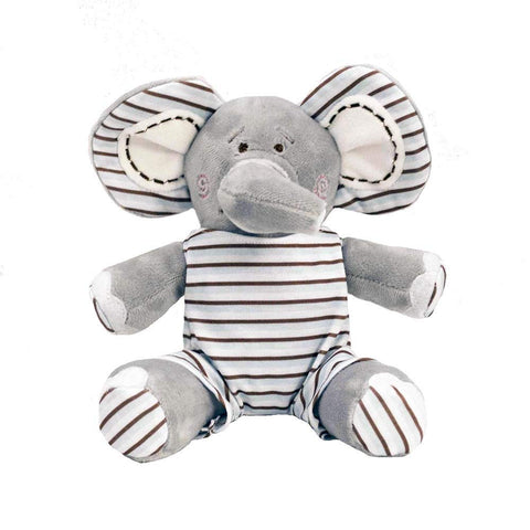 "10"" Elephant w/ Brown & Blue Stripe John John"