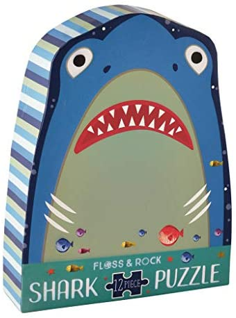 Shark 12 PC Jigsaw Puzzle w/ Shaped Box
