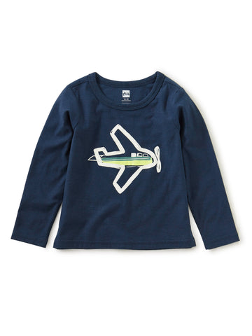 Take Flight Glow Graphic Tee - Whale Blue