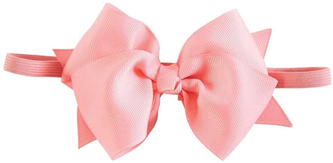 Pink Bow Soft Headband