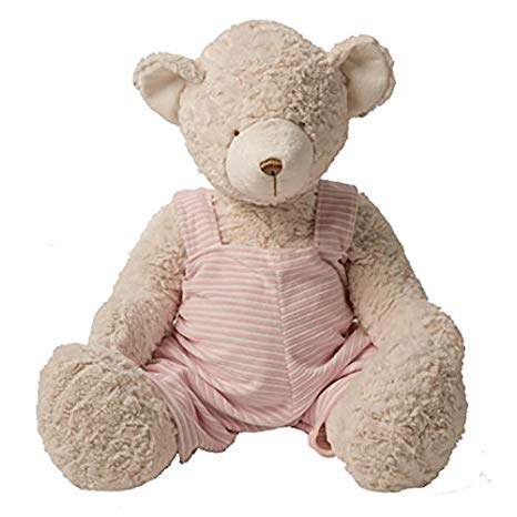 "10"" Teddy Bear w/ Pink Stripe Dress"