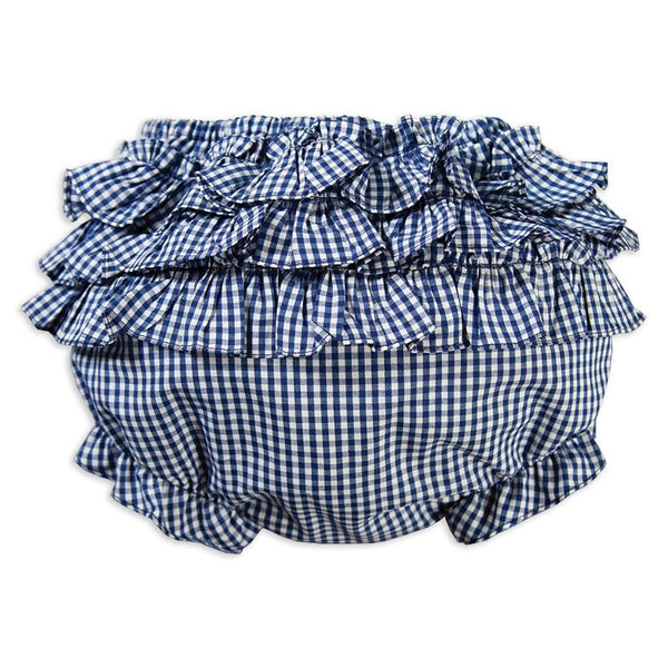 Diaper Cover - Ruffles - Gingham - Royal Blue