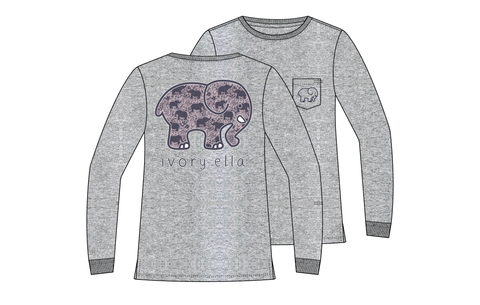 Elephant Trible LS Ella Tee