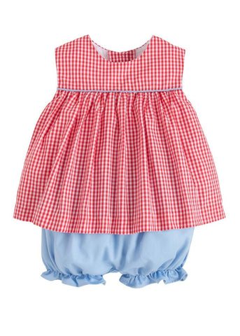 Bellemeade Bloomer Set - Red/Blue