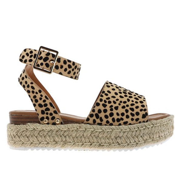 Suede Cheetah Wedge