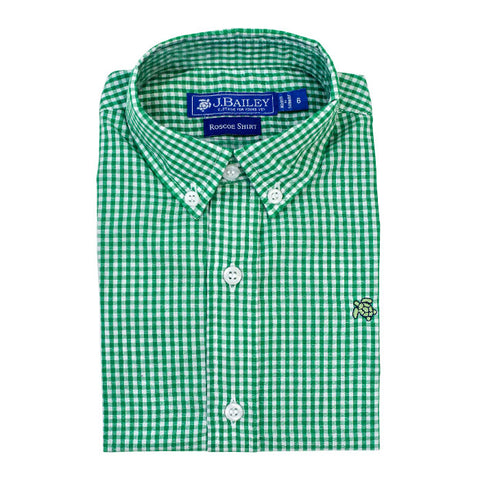 Button Down - Kelly Green