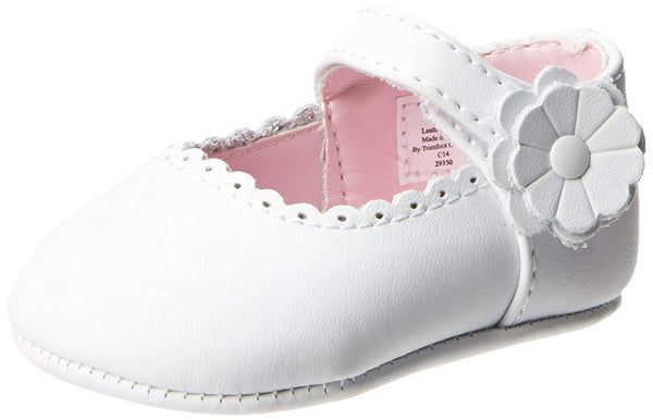 Leather Scalloped Crib Shoe
