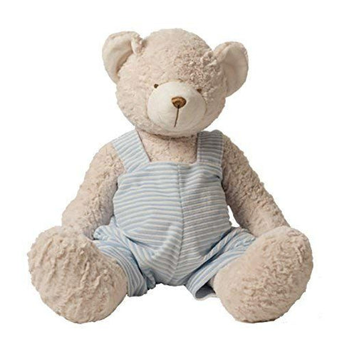 "10"" Teddy Bear w/ Blue Stripe John John"