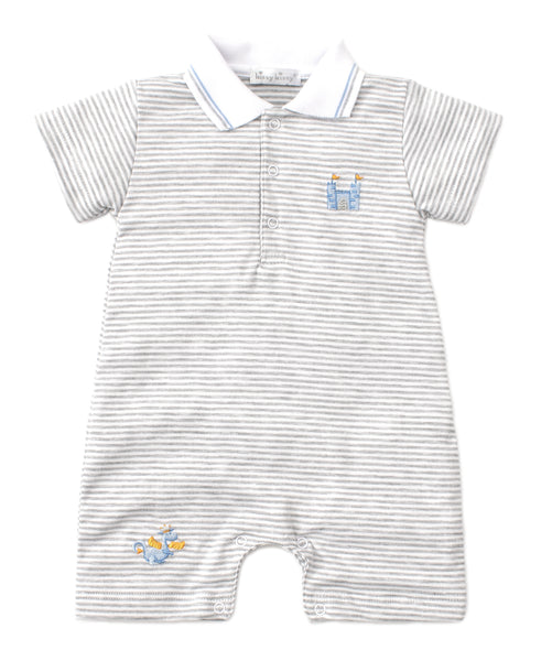 Dragon Castle Short Striped Playsuit