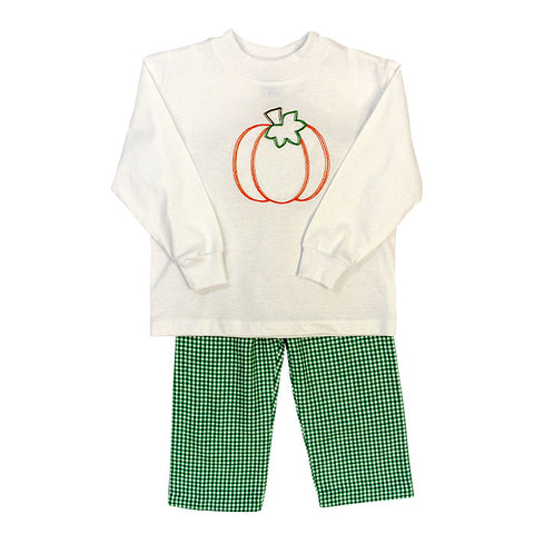 Pumpkin Stitch Boys Pants Set