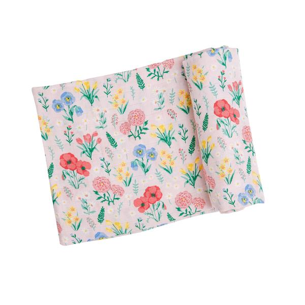 Summer Floral Swaddle Blanket - Pink