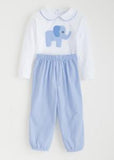 Boy Elephant Applique Set