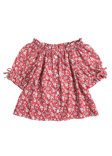Millie Top - Red Daisy