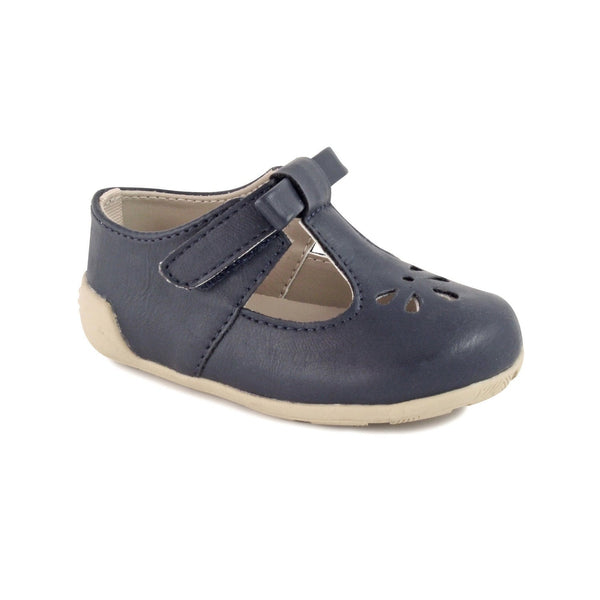 T-Strap w/ Bow (Toddler) - Navy