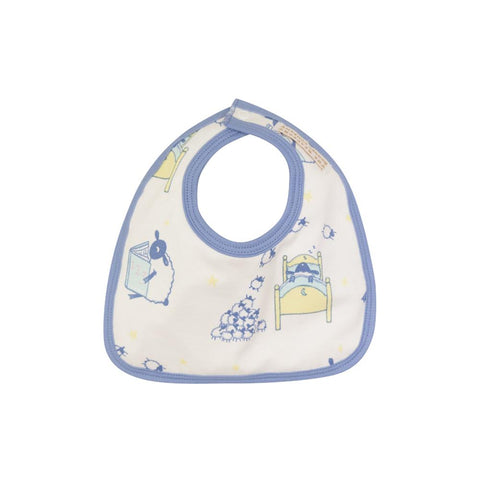 Bellyful Bib - Counting Sheep - Periwinkle