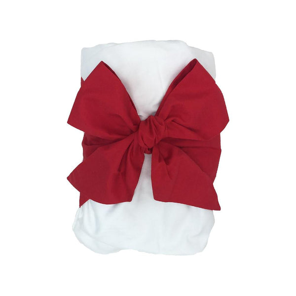 Bow Swaddle - Richmond Red