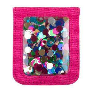 Confetti Cell Phone Pocket - Pink