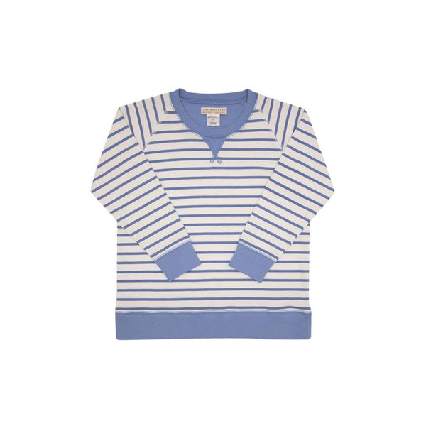 Cassidy Comfy Crewneck French Terry - PCP Stripe