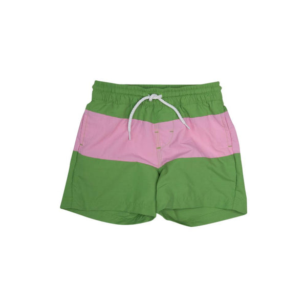 Country Club Colorblock Trunk - Green/Pink