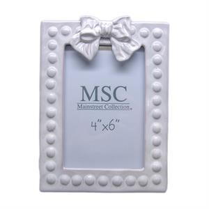 Bow Whitewash Ceramic Frame - 4X6