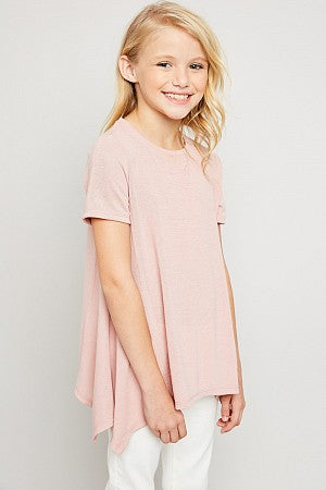 Raw Edge Tunic Tee