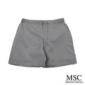 Gingham Shorts - Black