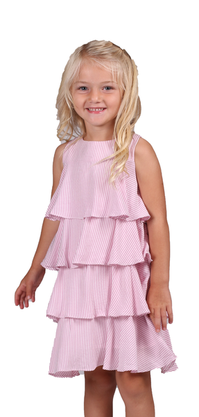 Tessa Dress - Pink Stripe