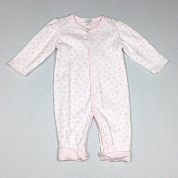 White and Pink Elephants Reversible Playsuit