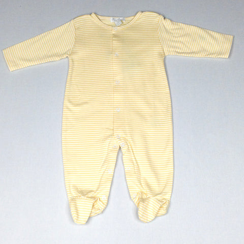 Yellow and White Striped Footie