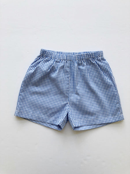 Conrad Shorts - Blue Gingham