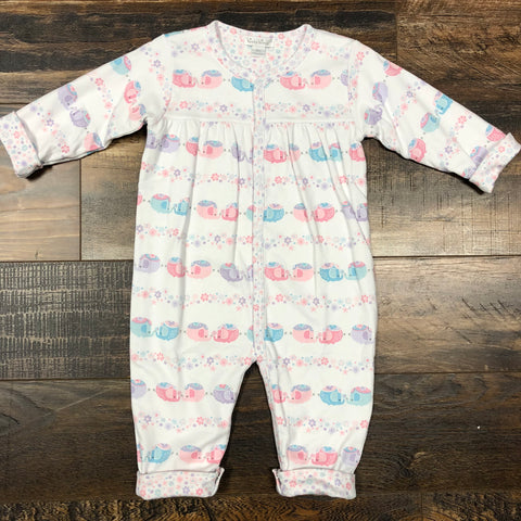 Elephants/Floral Reversible Playsuit