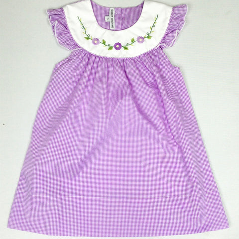 Purple Check Daisy Dress