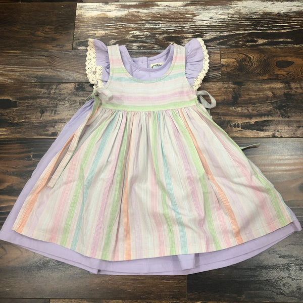 Eva Apron - Multi Stripe