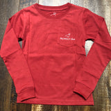 Lil Ducklings Sleigh Ride LS - Faded Red