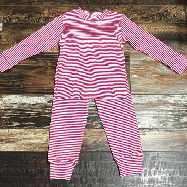 Pink/Wh Striped PJs