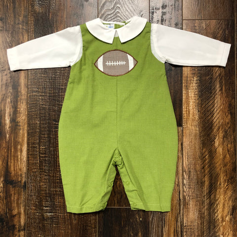 Green Longall w/ Football Applique