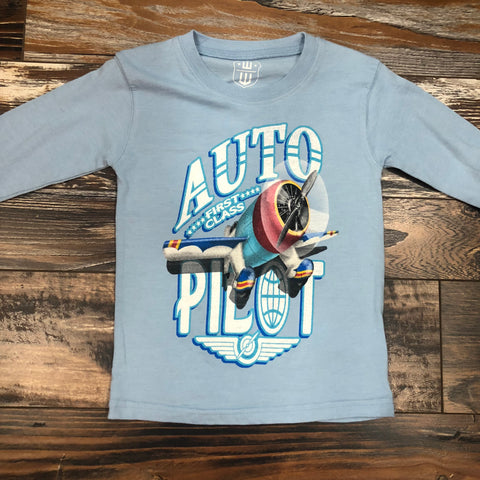Auto Pilot Long Sleeve Tee - NC Blue