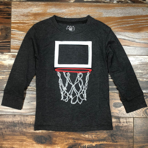 Hoop Long Sleeve Tee - Black Blend