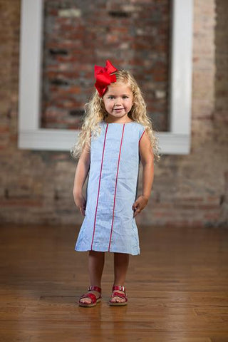Savannah Blue Stripe Dress